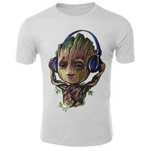 Nuevo 2019 camisetas Groot para hombre Unisex X planet Monarch cazarrecompensas superhéroe película tutores de la galaxia Camiseta con estampado 3D(China)