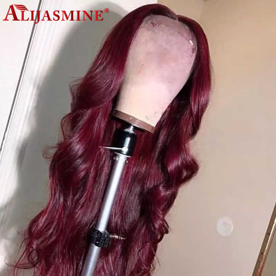 Body Wave 13x6 Lace Front Human Hair Wigs For Women Brazilian Remy 360 Lace Frontal Wig Preplucked With Baby Hair 99J Wigs