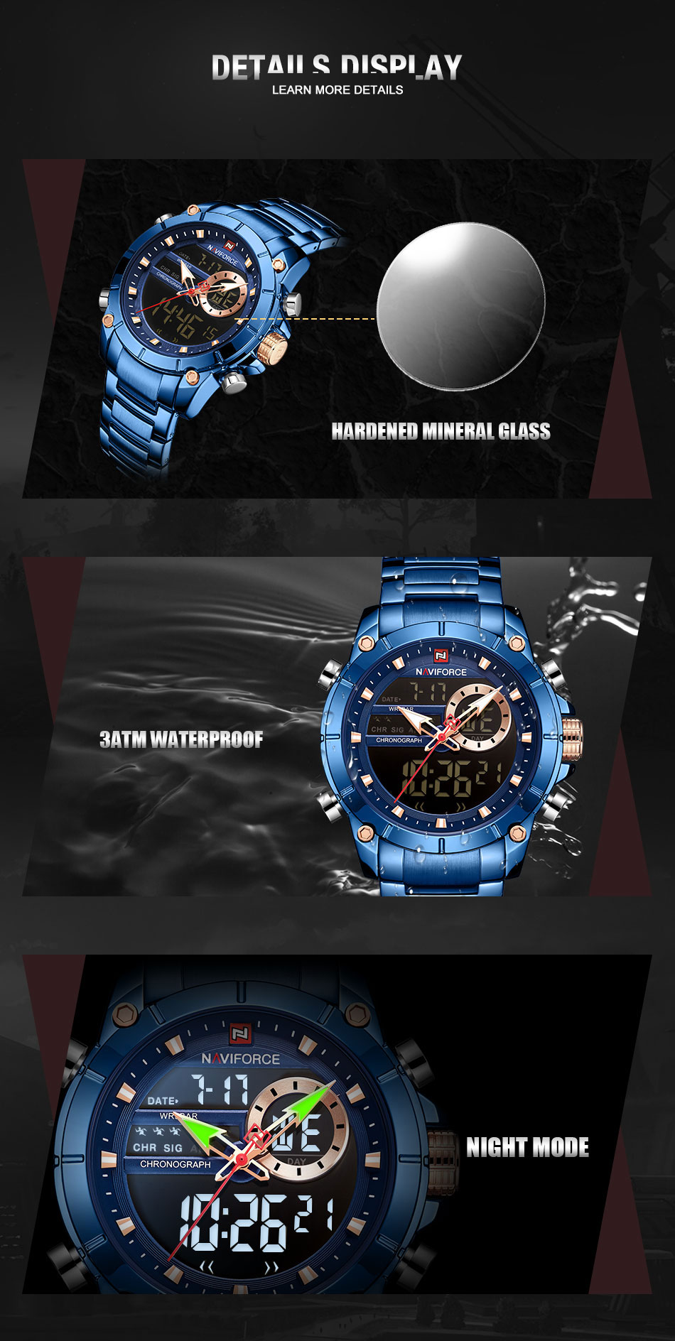 Relogio Masculino Men Watch NAVIFORCE Top Brand Luxury Fashion Military Quartz Mens Watches Waterproof Sports Men's Wrist Watch