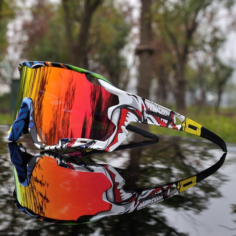 2019 Brand Designer Polarized Men Cycling Glasses 3 Lens Cycling Goggles TR90 Cycling Eyewear Sunglasses Full Mirror UV400