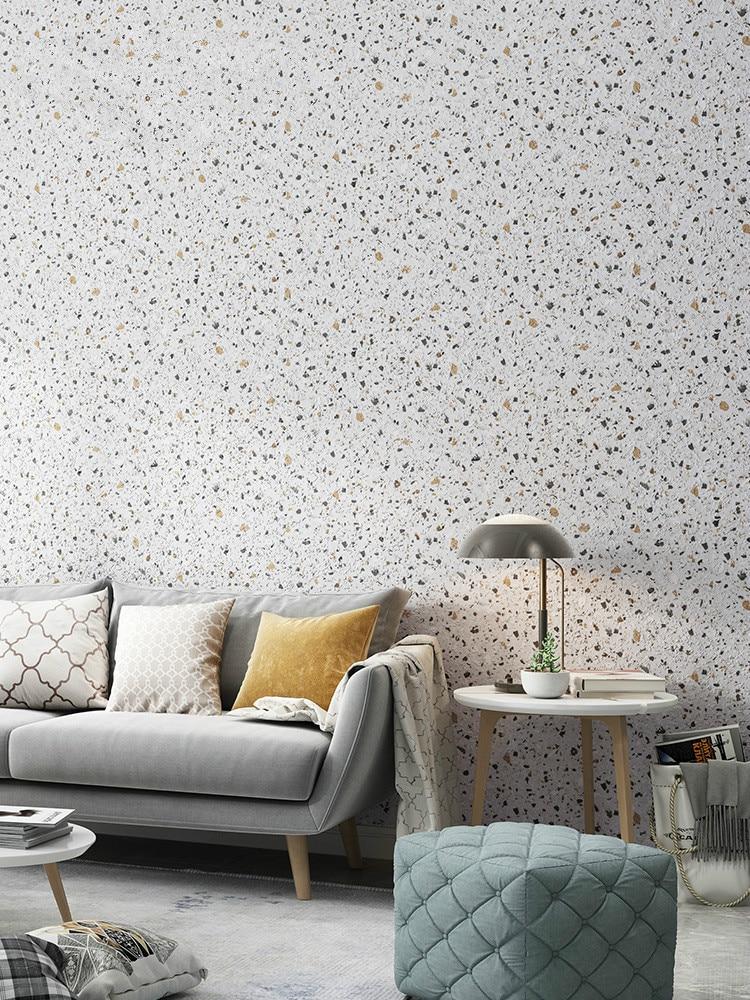 White Matte Effect Vinyl Wallpaper Modern Minimalist Pvc Wall Paper