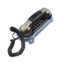 Teléfono para Eldly recortado con cable teléfono antiguo Retro montado en la pared teléfono antiguo de moda clásico Vintage teléfono para el hogar