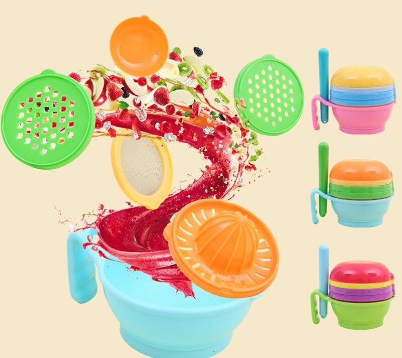 Детская шлифовальная чаша для кормления, измельчитель для еды, ручной инструмент для дополнительного питания, детский фруктовый овощной
