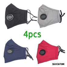 4pcs pm2.5 mask Cotton Mask For Woman Man 2020 Fashion face mask with filters Cloth Activated carbon filter reusable face mask
