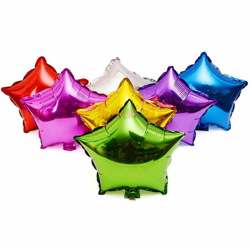 1pc 18 polegada estrela coração balão inflável chuveiro do bebê decorações de festa de aniversário crianças balões de folha fontes de festa de casamento dom-s
