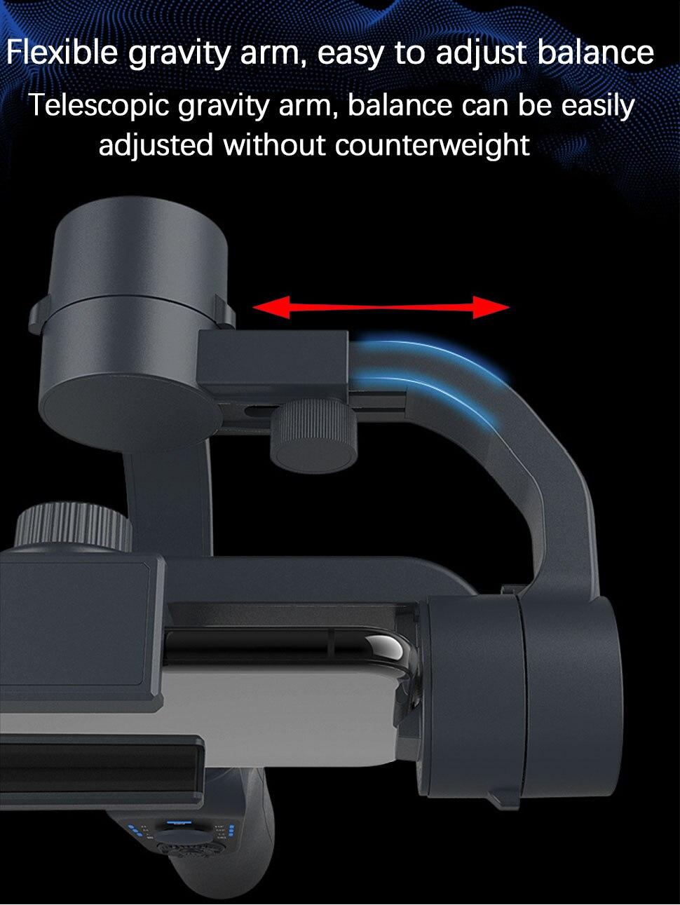 Orsda s5b estabilizador cardan 3-axis ação smartphone