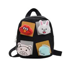 2019 school bag Cartoon Children Backpacks kindergarten Schoolbag Animal Kids Backpack Children School Bags Girls Boys Backpacks cheap LXFZQ Canvas zipper TT8200 Patchwork unisex 0 16kg 16cm other 19cm