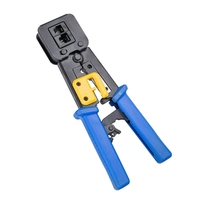 Multi Function RJ11 RJ45 6P 8P Network Cable Pliers Ethernet Crimping Tool EZ Crystal Head Cable Cutter|Networking Tools| |  -