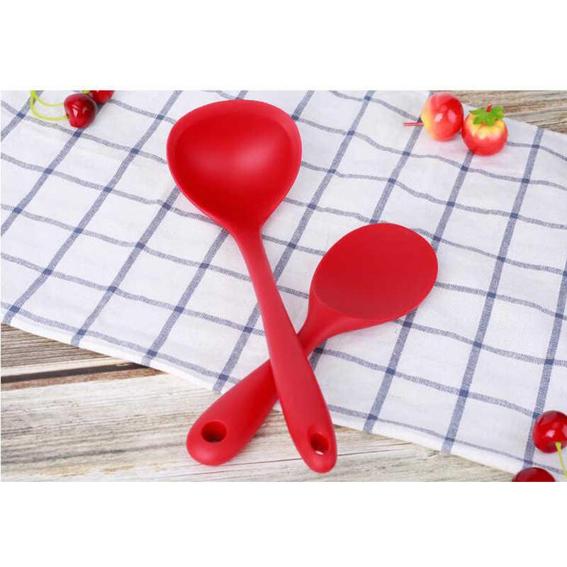 4 pçs/set Vermelho E Preto Espátula/Slotted Colher/Colher Utensílios de Cozinha de Silicone Utensílios de Cozinha Utensílios de Cozinha Conjunto de Cozinha