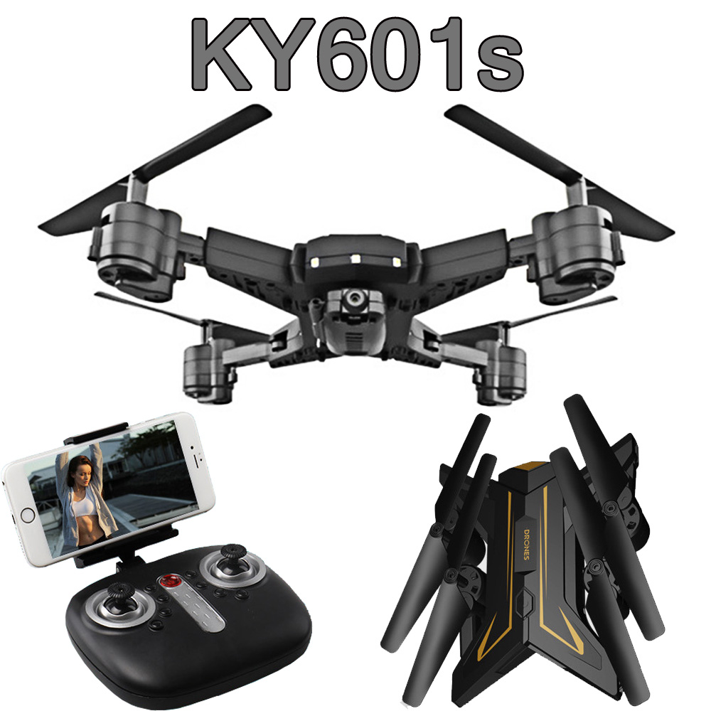 2019 New Drone ky601s RC Helicopter with Camera HD 1080P WIFI FPV Selfie Professional Foldable Quadcopter