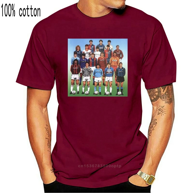 Футболка Серии А ANNI 80 Марадона гуллит Баджо CALCIO в винтажном стиле S-M-L-XL-2XL-3XL