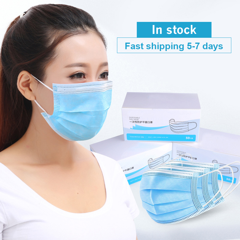 20 Pcs Dust Protection Masks Disposable Face Mouth Filtration Bacteria Proof 2020 Flu Anti-Dust 3 Filter Against Ship 24hrs