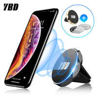 YBD Magnetic phone holder in the Car GPS Air Vent Mount Magnet Cell Phone Stand Holder for iPhone 7 Xiaomi Pocophone F1 Huawei