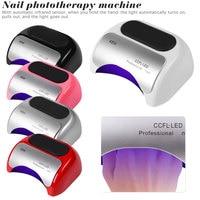 1pcs 2019 Brand New Professional Nail Art 110V 220V Voltage 48W LED+UV lamp Gel Nails Dryer Nail Tool