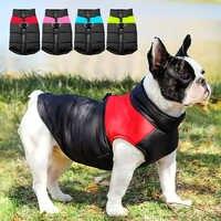 Roupas para cães pequenos médio grandes cães pug bulldog francês inverno pet filhote de cachorro chihuahua casaco jaqueta à prova dwaterproof água