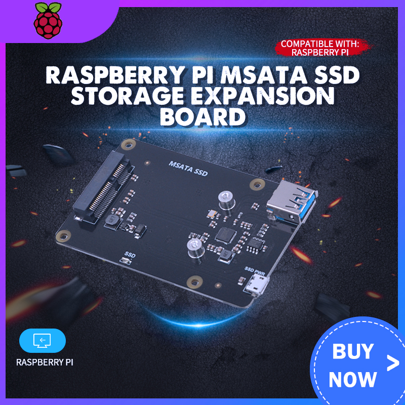 Raspberry Pi MSATA SSD Storage Expansion Board X850 V3.1 USB 3.0 Extansion Board Module For Raspberry Pi 3 Model B+(Plus)/3B/2B