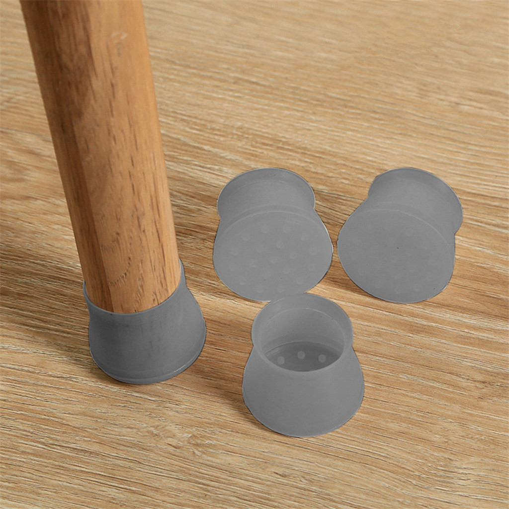 Soft Furniture Table Chair Leg Silicone Cap Pad Furniture Table Feet Cover Floor Protector chair foot covers Case Shell Mat #112(China)