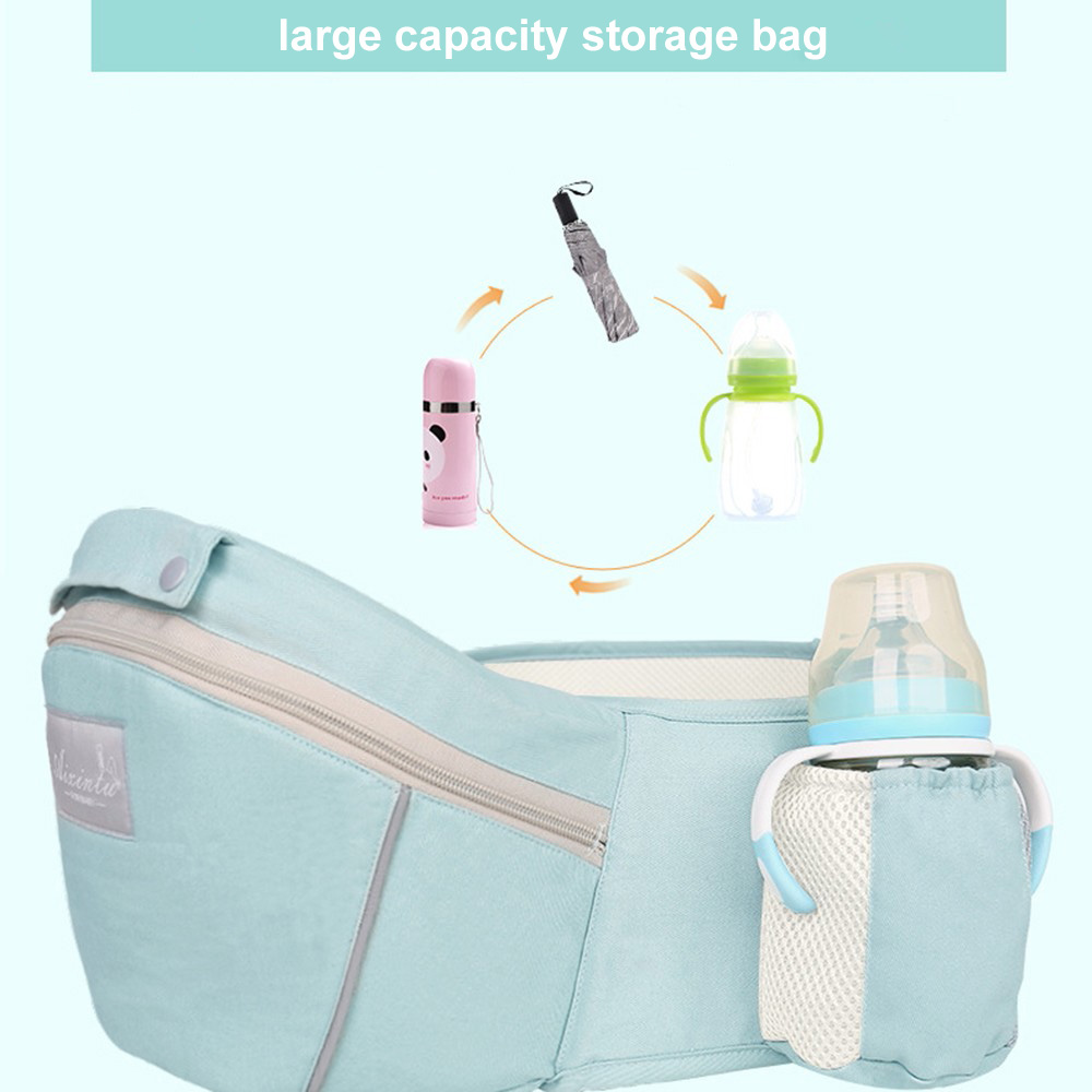 Ergonomic Baby Carrier with Hood Breathable Infant Hipseat Carrier Kangaroo Sling Carrier Wrap For Baby Travel Backpack 0-48M