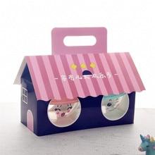 50 шт. креативная выпечка упаковочная коробка для инструментов день рождения подарок торт десерт льда Декор Пластиковые чашки с крышкой и коробки с ручками