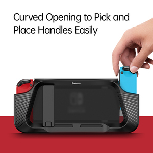 Image 4 - Baseus Gamepad Holder Case For Nintendo Switch Joypad Stand Holder Cover For Nintendos Switch Left Right Game Controller Coque