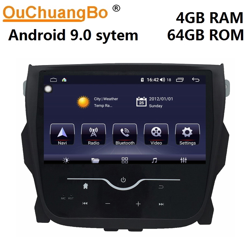 Lecteur multimédia gps radio Ouchuangbo pour MG5 MG 5 avec android 9.0 wifi bluetooth 8 core 4GB + 64GB
