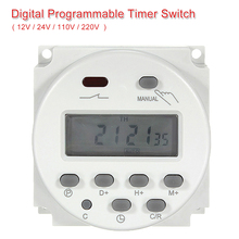 LCD Power Digital 12V/ 24V/ 110V/ 220V AC/DC 7 Days Programmable Timer Time Switch 1Min to 168H Built-in Rechargeable Battery