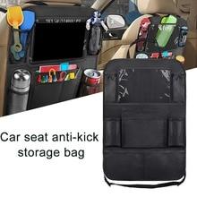 Organizer per sedile posteriore per auto con supporto per Tablet Touch Screen + 9 tasche portaoggetti tappetini protezioni per schienale per seggiolino auto per bambini piccoli