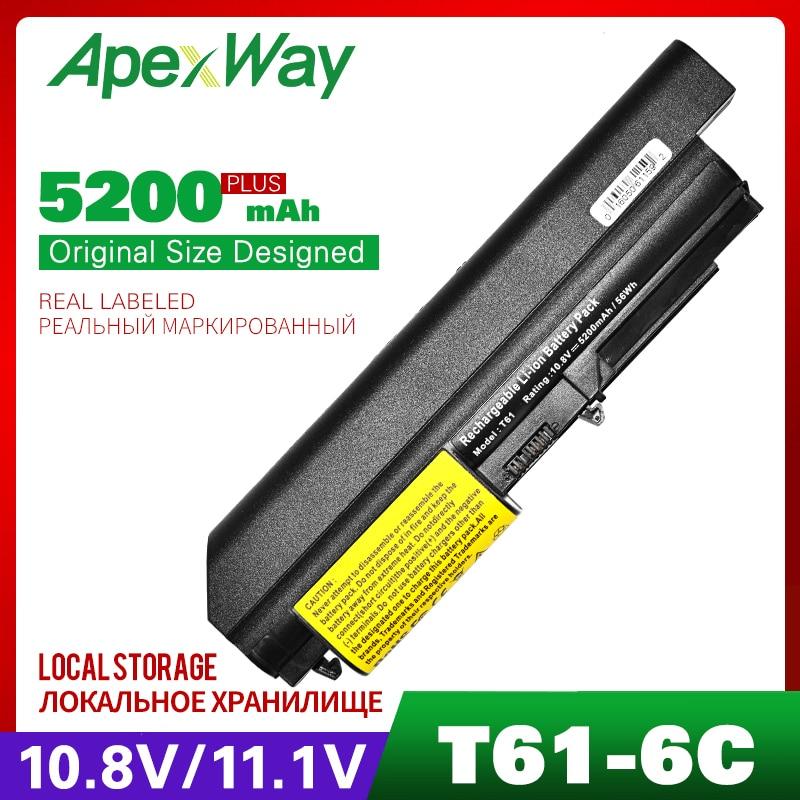 rozebrat lenovo r500 - Apexway Laptop Battery for Lenovo ThinkPad R61 T61 R400 T400 ASM 42T5265 FRU 42T4530 42T4532 42T4548 42T4645 42T5262 42T5264
