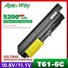 5200mAh laptop battery for LENOVO Thinkpad R500 T500 W500 T61 T61p R61 R61i R61e IdeaPad SL500 40Y6799 92P1138 92P1140 92P1142