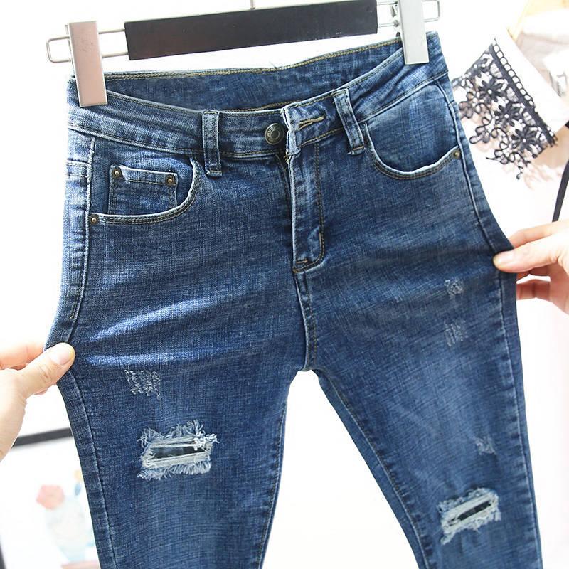 Jeans For Women Slim Stretch High Elastic Skinny Jeans Vintage Black Blue Skinny Pencil Pants Women Jeans