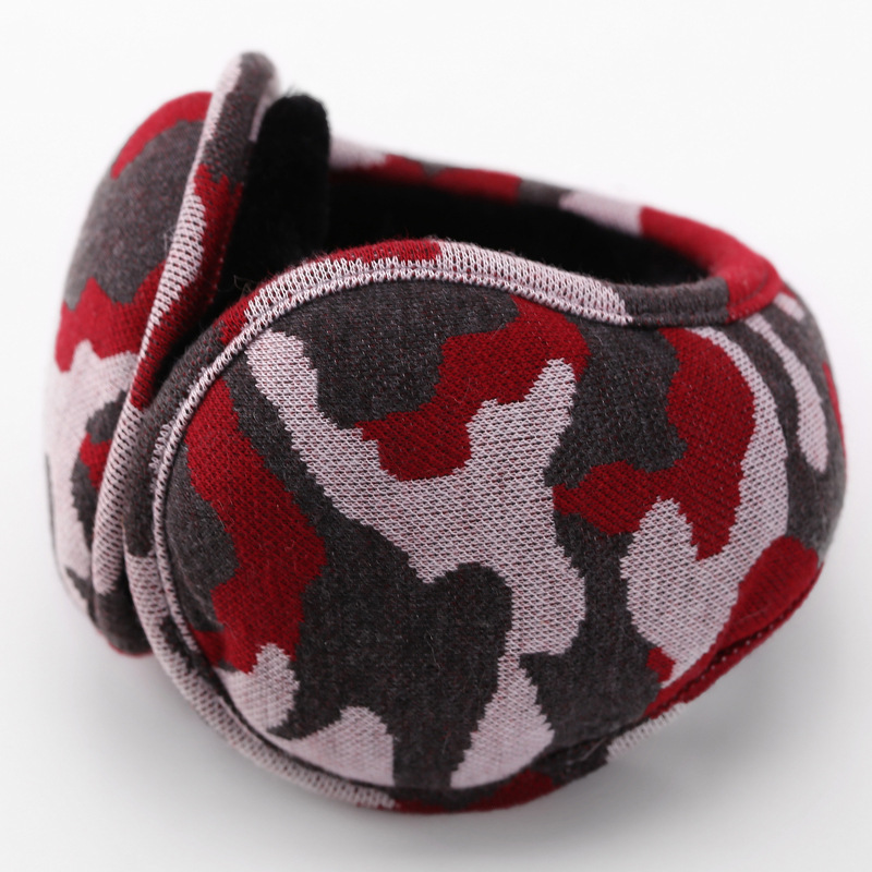 Camouflage Plush Earmuffs Men Women Scalable Outdoor Coldproof Collapsible Portable Warm High Quality Leisure Style Earmuffs