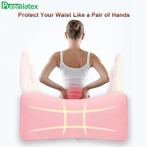 Image 3 - Purenlatex Lumbar Pillow Memory Foam Bed Back Support Multi functional Waist Cushion for Lower Back Pain Sleeping Side Lying Hip