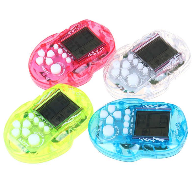 ミニテトリスゲームプレーヤーポータブルゲームコンソールデジタルポケットゲーム子供のための