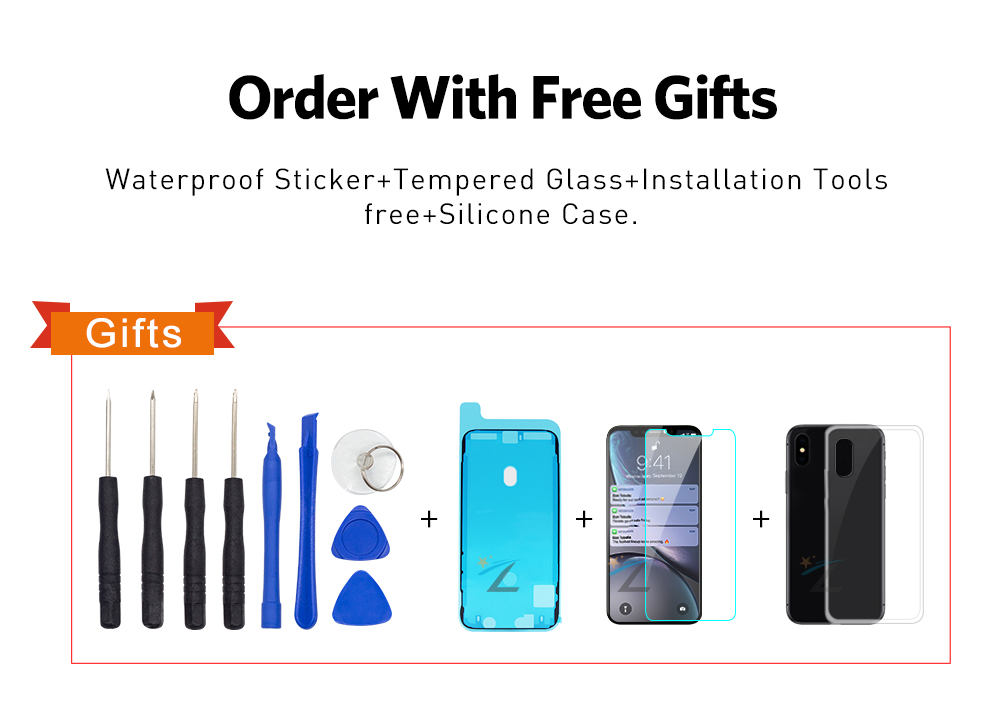 Hdcdb8addeda14fe08fa366f1ebb8c7aa3 AAA+++ For iPhone X OLED With 3D Touch Digitizer Assembly No Dead Pixel LCD Screen Replacement Display For iPhoneX LCD with Gift