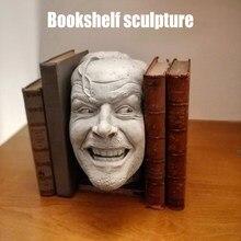 Skulptur Die Glänzende Buchstütze Bibliothek Hier der Johnny Skulptur Harz Buch Regal Hause Dekoration Für Desktop Ornament Dekoration
