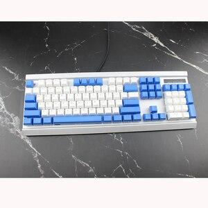 Image 5 - Doubleshot חומר עם תאורה אחורית Sa Keycaps סט PBT אדום כחול לבן שקוף גופן עבור משחקים מכאניים מקלדת ASNI Gh 104 60 87