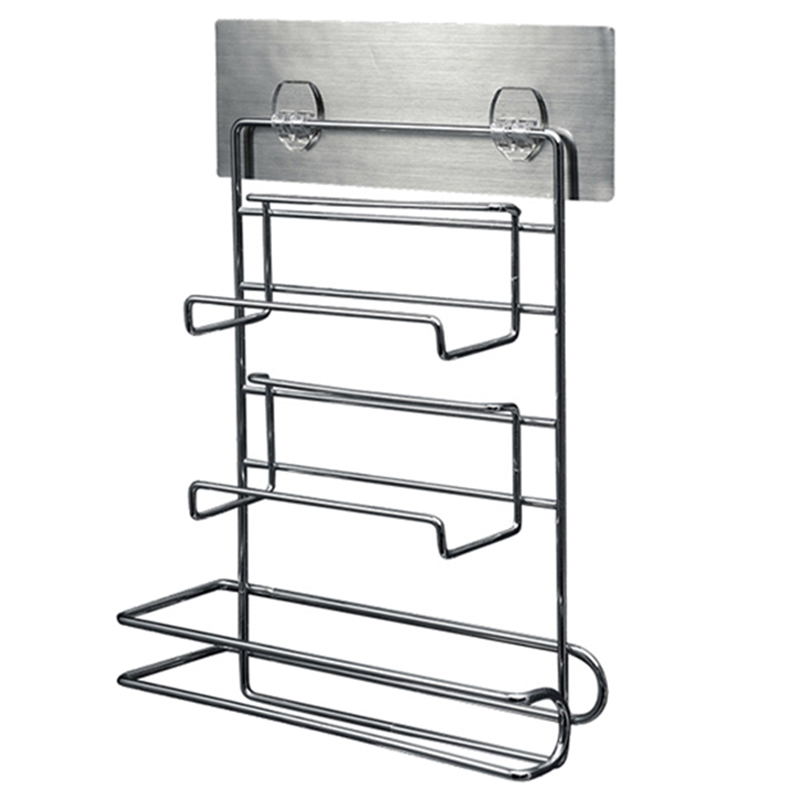 Refrigerator Cling Film Storage Rack Shelf Wall Hanging Paper Towel Holder Kitchen Bathroom Tool