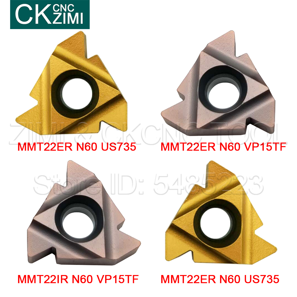 10P MMT22IR MMT22ER N60 VP15TF/ US735 Thread Cutting Carbide Insert MMT 22ER/IR CNC Tools Threaded Blade Turning Blade For Steel