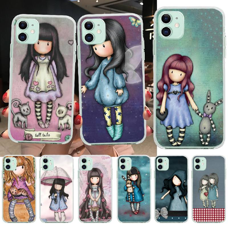 PENGHUWAN Santoro Gorjuss cute cartoon girl Bling Cute Phone Case for iPhone 11 pro XS MAX 8 7 6 6S Plus X 5S SE XR cover(China)