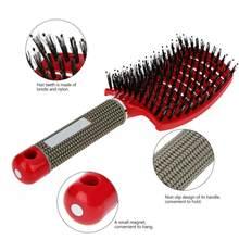 Acheter 2 obtenir 2% de réduction sur brosse à cheveux filles cheveux cuir chevelu Massage peigne femmes humide bouclés démêler brosse à cheveux pour Salon de coiffure outil de coiffure