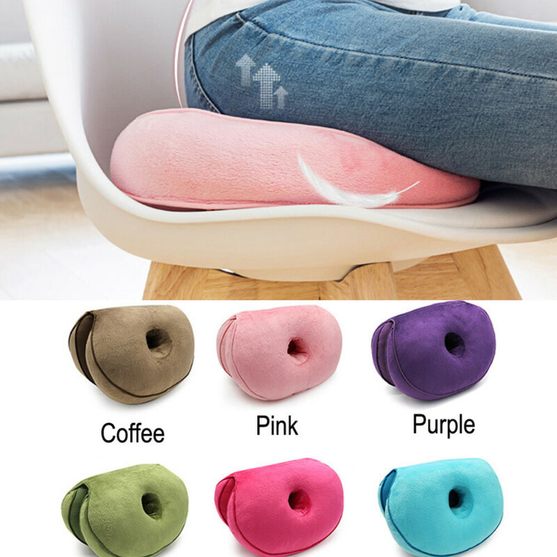 6 Colors Dual Comfortable Cushion Super Elastic Lift Hips Up Seat Cushion