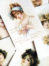 16pcs Western retro woman stickers, Victorian goddess oil painting Diary Ablum Scrapbook Label Stationery Journal
