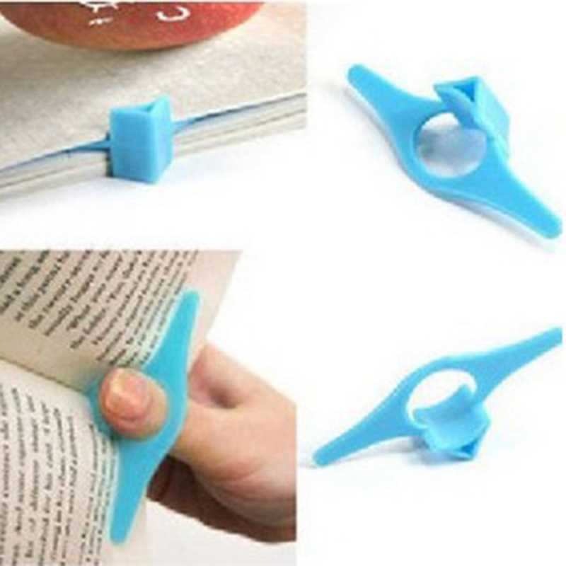 1PC Thumb Convenient Multifunction Book Holder Bookmark Finger Ring Book Markers For Books Stationery Gift