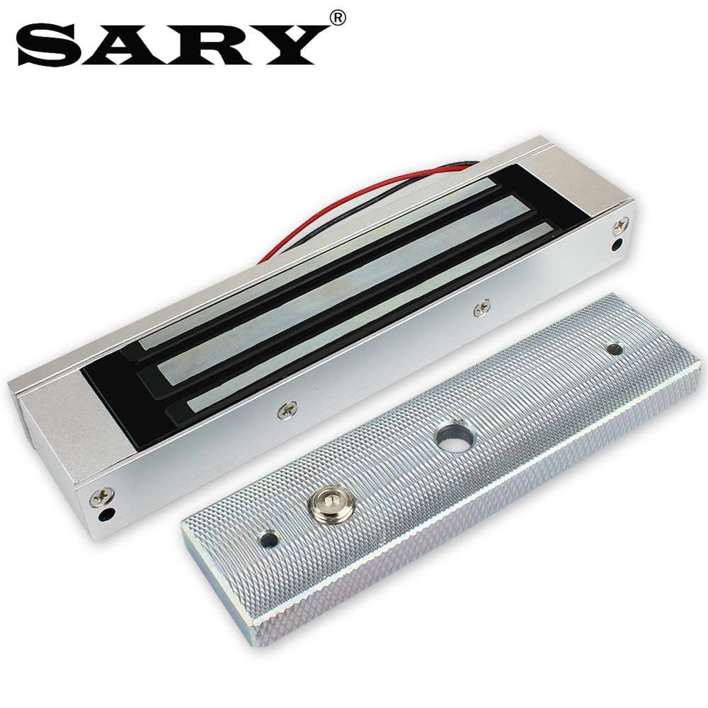 Controle de acesso fechadura eletromagnética 180 kg única porta à prova dwaterproof água fechadura magnética dc12v ferro porta de madeira fechadura elétrica