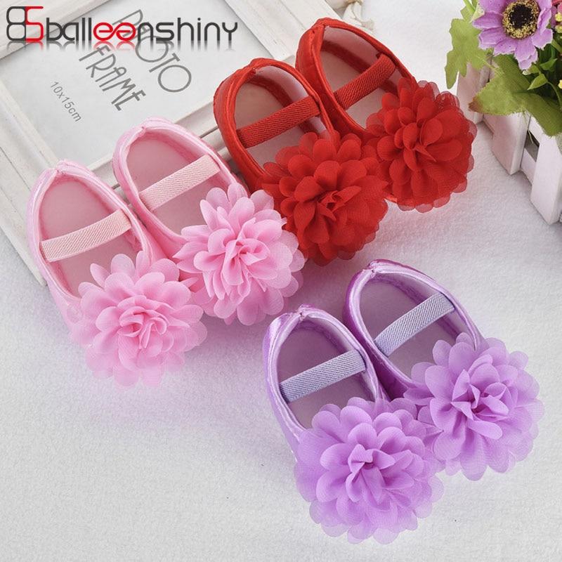Balleenshiny Fashion Wild Princess Shoes Flora Baby Girl Summer Shoes Newborn Infant First Walker Soft Comfortable Non-slip