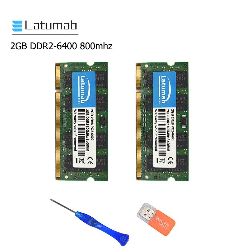 Latumab 2GB 4GB DDR2 800mhz PC2 6400 Laptop Memory SoDimm Memory Ram 200Pins High Quality Notebook Module SODIMM 1.8V RAM