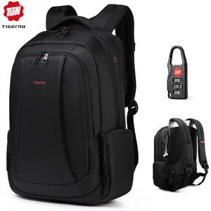 "Image 1 - Tigernu Splashproof Nylon Backpack Female Mens Backpacks for 15.6"" Laptop Women Notebook Bag Mochila Leisure school backpack US"