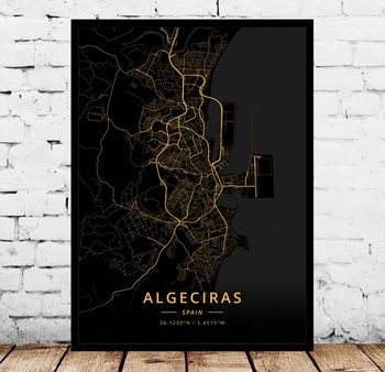 Cartel de Madrid, Barcelona, Granada, Coruna, Albacete, Algeciras, Almeria, Aviles, Badajoz, Bilbao,...