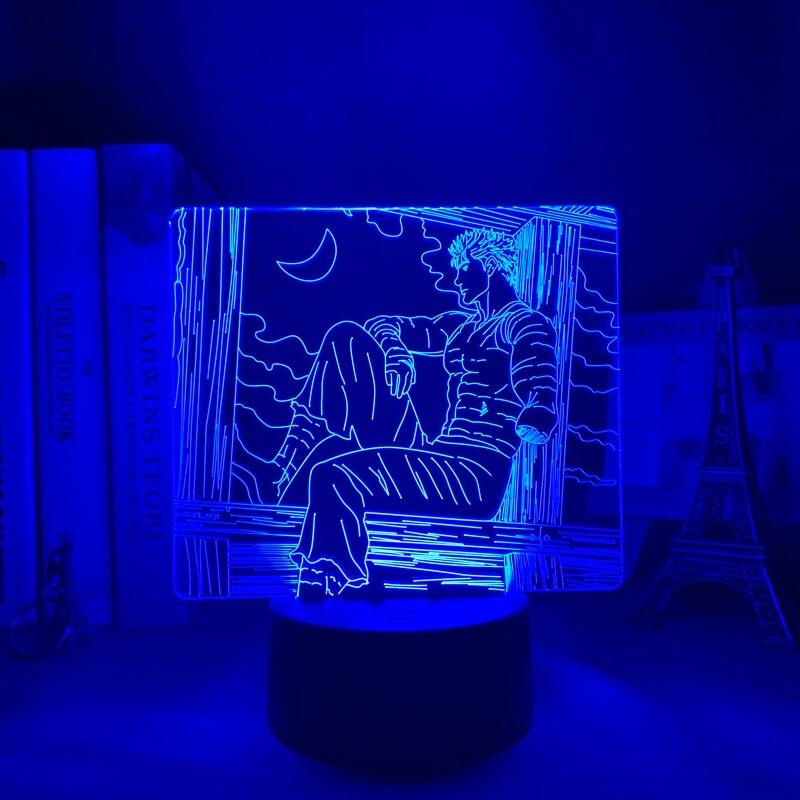Hdcdc29f811c7474c80c0138c1a705383X Luminária Anime led night light berserk tripas para quarto deco presente colorido nightlight manga 3d lâmpada berserk tripas