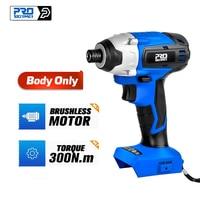 PROSTORMER-destornillador eléctrico sin escobillas, Motor con función de impacto, 20V, cuerpo de herramienta eléctrica solo